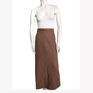 Vintage wool maxi skirt